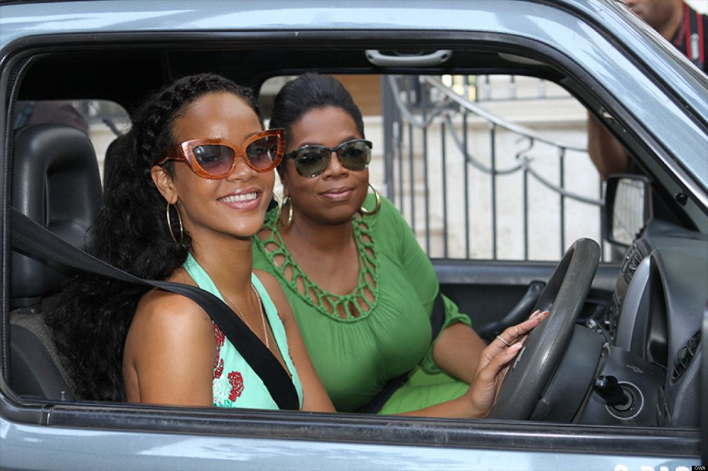 rihanna driving in barbados