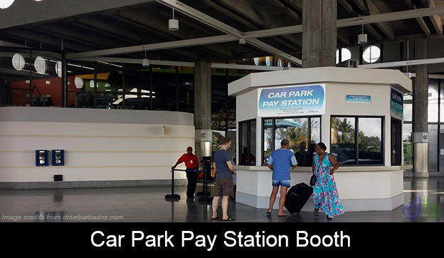 car park pay station booth Barbados