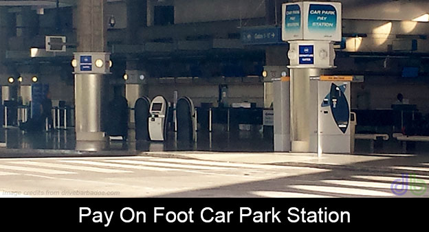 pay-on-foot-car-park-pay-station-in-Barbados
