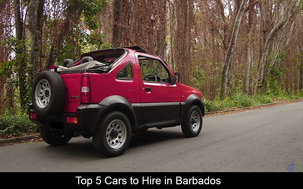 Top 5 vehicles to hire in Barbados
