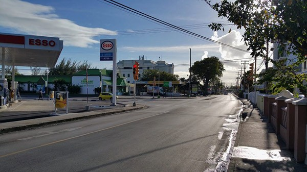 Worthing main road in Barbados
