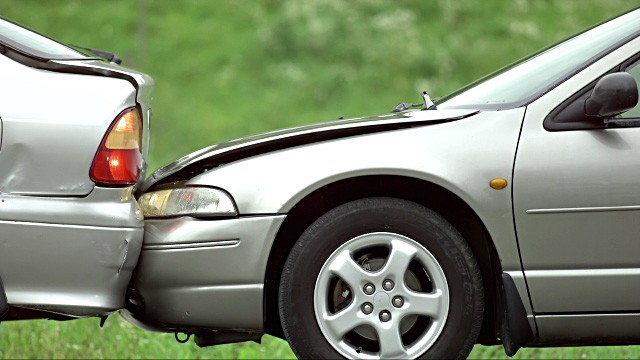 rented car in a car accident