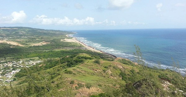 seascape from Chalky Mount in Barbados