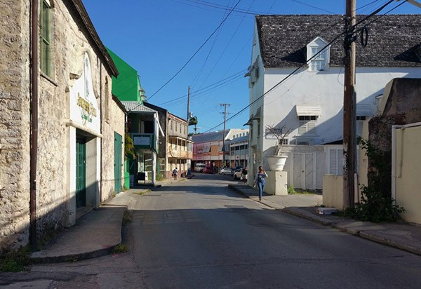 small street in Speightstown Barbados