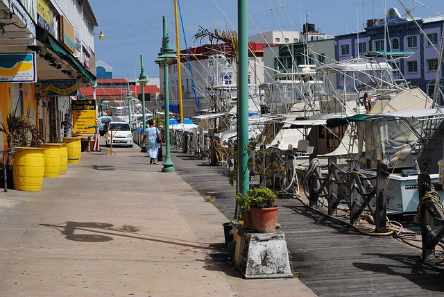 street next to the Bridgetown port